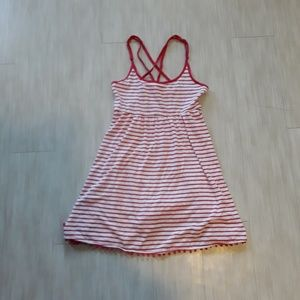 Red and White Stiped Tunic/ Dress